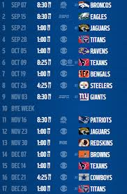 colts schedule