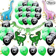 BESTZY 26PCS <b>Dinosaur</b> Birthday Party Decoration Kit: <b>Happy</b> ...