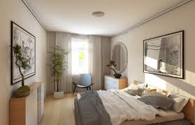 cabinet stylish bedroom light grey a simple bedroom with plain white walls and ceiling the floor bed and