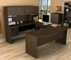 shaped amusing double office desk