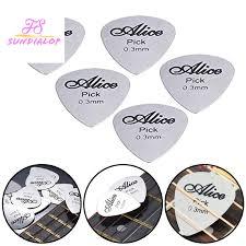 <b>5Pcs Metal Guitar</b> Pick 0.3mm <b>Thin</b> Durable Silver Color ...