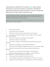 hse manager interview questions occupational safety and health