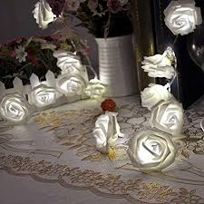 20 <b>Led Rose</b> Flower Fairy Light Battery Powered Decorative Indoor ...