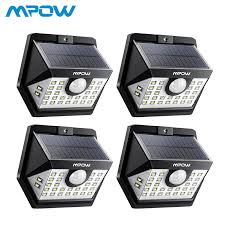 <b>4 Pack</b> MPOW <b>30</b> LED Solar Garden Motion Sensor Lights Outdoor ...