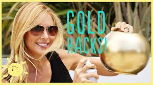 DIY | 3 <b>GOLD</b> SPRAY PAINT HACKS! - YouTube
