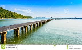 <b>Bridge</b> On Beach And <b>Sea Wave</b> In Asia <b>Ocean</b> Stock Photo - Image ...