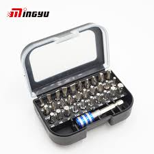 31 PCS Common Screwdriver Bit Set 1/4'' 25mm <b>Slotted</b> Torx Hex ...