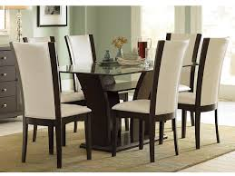 black and white dining table set: full size of living room glass top dining table ideas white leather chairs painting on the