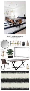 dining modern room gallerie copy cat chic room redo modern graphic dining room