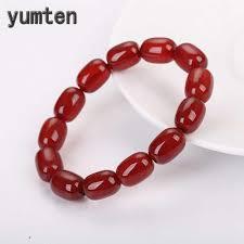 <b>Natural Rose Quartz Woman</b> Bracelets Female Bucket Beads Elastic ...