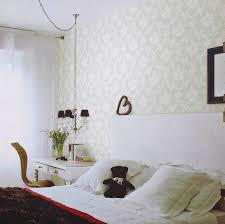 room elegant wallpaper bedroom:  white feminine bedroom
