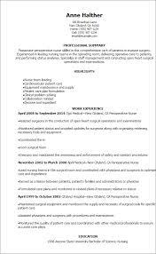 professional perioperative nurse resume templates to showcase your    resume templates  perioperative nurse resume
