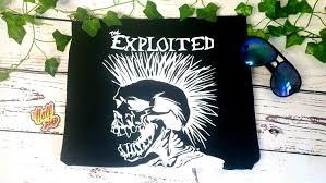 Exploited Unisex <b>Hardcore Punk</b> Rock <b>Band Skull</b> Vector design ...
