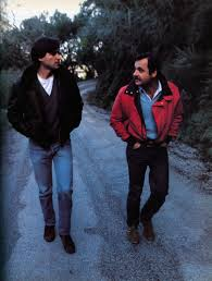 guidebook > articles > apple s bid to stay in the big time > picture steve jobs left and john couch director of the lisa project walk the mountain roads of los gatos california where both men have homes