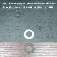 <b>100pcs</b>/<b>lot Lithium battery</b> 18650 positive hollow insulating pad red ...