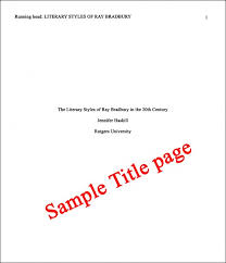 essay basics format a paper in apa style letterpile sample title page for apa essay title page example