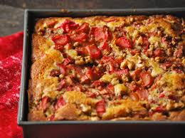 Image result for rhubarb cake