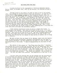 JFK Assassination: <b>William Holmes</b>' sermon pleading with Dallas to ...