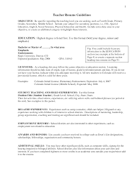 objective for a teaching resume examples shopgrat cover letter teacher resume guidelines examples objective education objective for a teaching resume