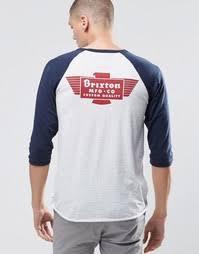 Купить мужские <b>футболки</b> с принтом три четверти (3/4) в ...
