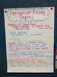 essay topics persuasive essay topics and persuasive essays on  persuasive essay topics