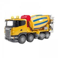 <b>Игрушка Bruder</b> Scania бетономешалка <b>Yellow</b>-Blue 03-554