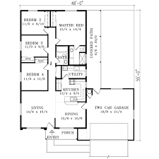 Sunbelt Style House Plans   Plan   Main Floor Plan