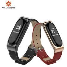 <b>Mijobs Mi band 4</b> 3 bracelet Wrist Strap Leather For Xiaomi Mi Band ...