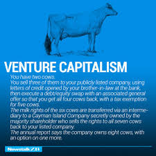 the world economy explained just two cows venture capitalism 11145219 1008425072524387 6789768593464627565 n
