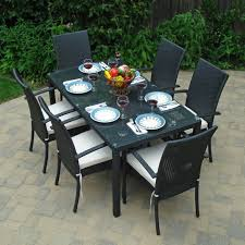 garden design ideas garden ideas dining area sun protective outdoor furniture black black garden furniture