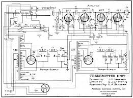 u  a  sanabria monoscope tubeschematic diagrams of monoscope transmitter and receiver built by students at the american television institute in chicago