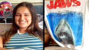 16-Year-Old Bit by <b>Shark</b> Gets '<b>Jaws</b>' <b>T</b>-<b>Shirt</b> - YouTube