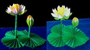 Diy Paper <b>Lotus Flower Leaf</b> Easy - YouTube