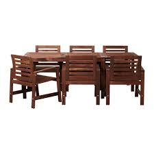 patio table and 6 chairs: applara table and  chairs ikea you can extend the table in this dining set to