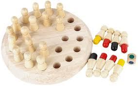makalon <b>Memory</b> Chess Toy Childrens Educational <b>Wooden</b> ...