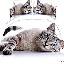 Cat Print 3D Bedding Sets Queen Size for Kids ... - Amazon.com
