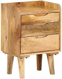 Bedside Cabinet Solid Mango Wood 15.7