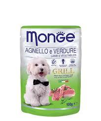 <b>Паучи</b> для собак <b>Monge Dog Grill</b> ягненок с овощами, упаковка ...