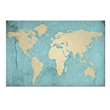 Large Size World Map Canvas Prints Vintage Style ... - Amazon.com