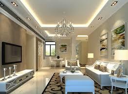 large false raised ceiling decor tray ceiling design ideas drum shape table lamp shade hidden cove lighting setup beige interior color recessed lighting ceiling tray lighting