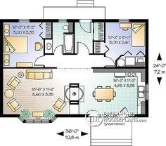Cottage floor plans  Floor plans and Floors on Pinterestcute tiny house plan