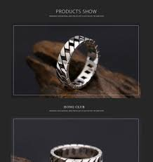 <b>925 Sterling Silver</b> Ring Men Jewelry Hollow Smooth Wedding ...