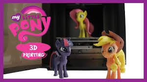 <b>My Little Pony</b> 3D <b>Printing</b> Fluttershy Twilight Sparkle Applejack <b>MLP</b> ...