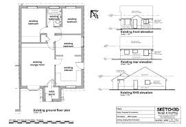 Example loft conversion plan Loft conversion Existing house plan Elevations