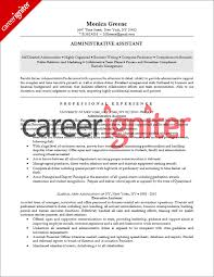 Administrative Assistant Resume Sample - Career Igniter administrative assistant resume sample
