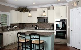 blue kitchen cabinets small painting color ideas: small kitchen with white kitchen theme with l shape layout on interior layout