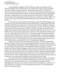 high school vs college essay compare and contrast compare and     Literature Comparison Essay In English Topics