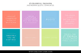 colorful fashion quote templates for instagram