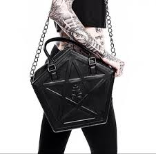 <b>JIEROTYX</b> Pentagram <b>Punk</b> Darkness <b>Gothic</b> Star Handbag Women ...