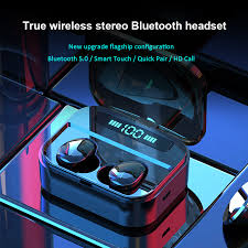 cbaooo es01 tws bluetooth earphones 5 0 9d stereo wireless earbuds ir ear gaming headset ipx7 waterproof led smart power